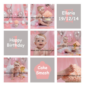 Ellaria 1st Biryhday Cake Smash Collage WEB