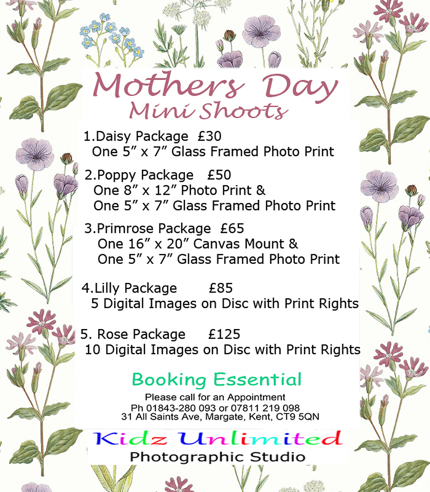 Mothers Day Mini Shoot Package