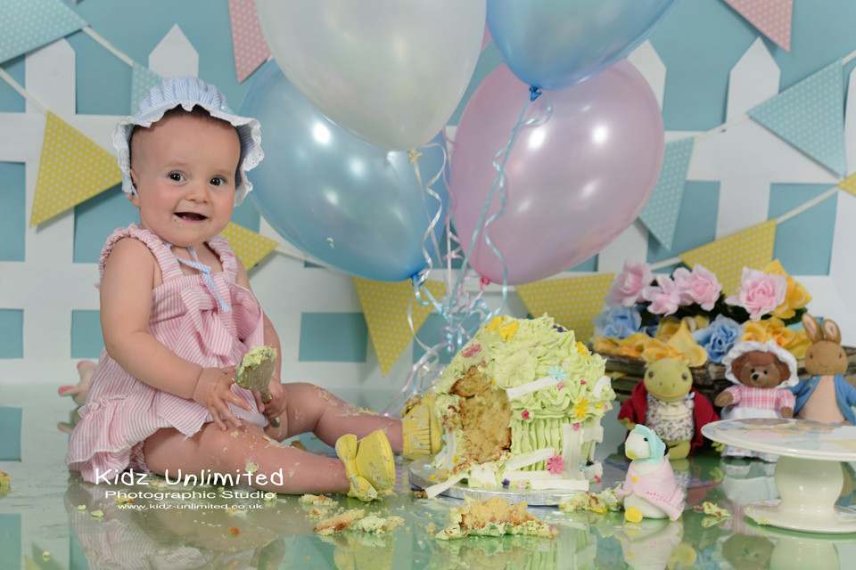 Jemima Puddle Duck inspired Cake Smash in Thanet, Kent
